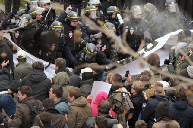 Anti-gay marriage protest - Paris