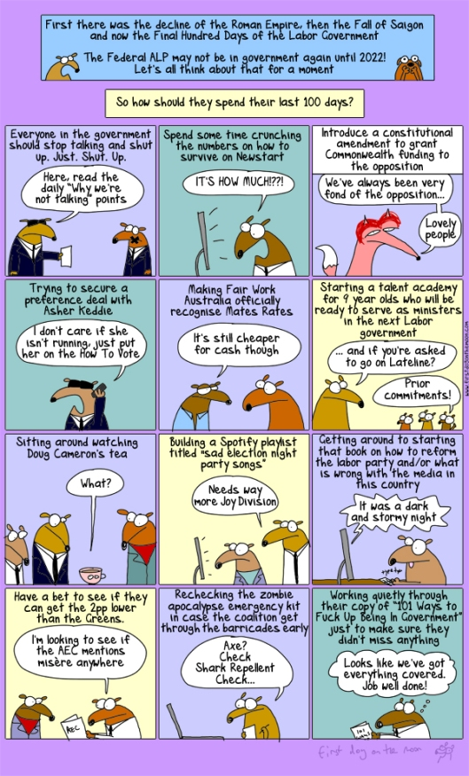 Borrowed with Deepest Gratitude from First Dog on the Moon at Crikey.com.  Do subscribe !