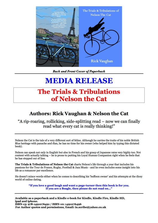 NELSON THE CAT_ MEDIA RELEASE_Rick Vaughan_ Author