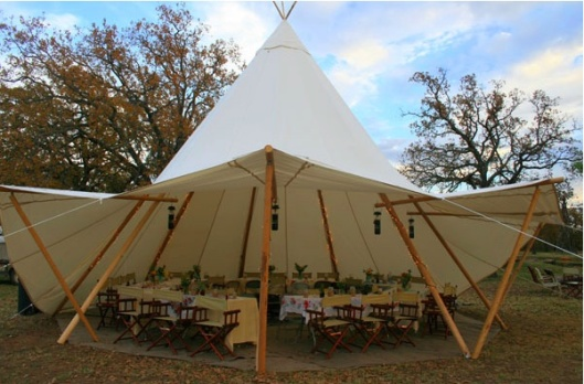 Replica wedding tent - not actual size