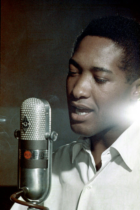 Sam Cooke and the microphone from heaven.
